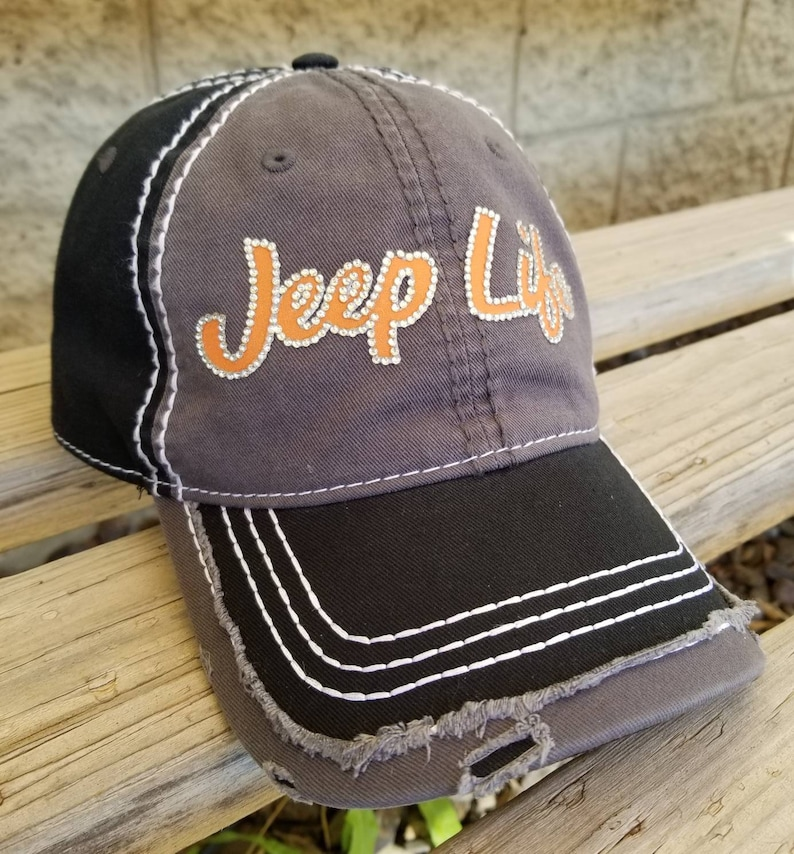 a8fd3cf9c002f Jeep Life Hat Rhinestone Jeep Hat Its a Jeep Thing Bling