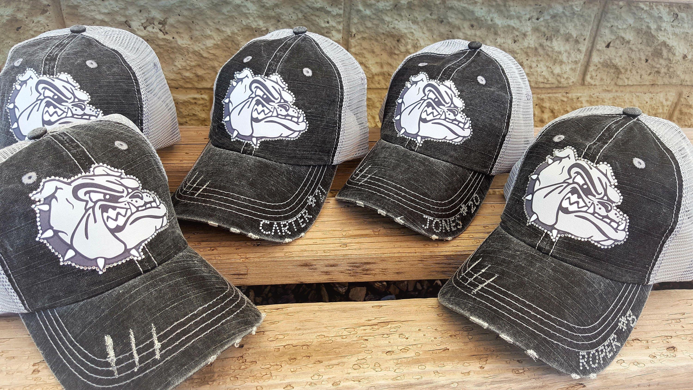 0d21ca42aface Football Mom Hat Bulldogs Football Team Hats School Team