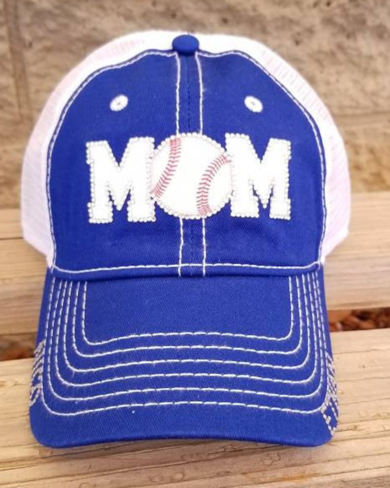 d6ee8f0fd3c4a Baseball mom trucker hats with mesh back and team or school