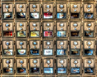 Post Office Boxes - Bar Harbor, Maine - Fine Art - Wall Art - Inquire about Size & Frame Options
