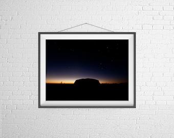 Fine Art Photography Print - Travel, Sunrise, Landscape- Uluru, Australia