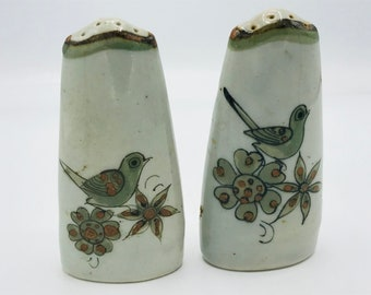 Terracotta Salt and Pepper Shakers with Fish Made in Mexico Mexican Pottery