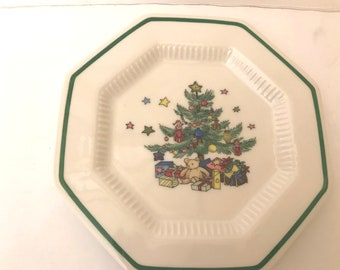 vintage nikko christmastime bread plate 6 58 perfect gift for holidays replacement china