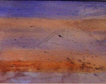 ORIGINAL WATERCOLOR - Impressionist view of Tuscan Hills