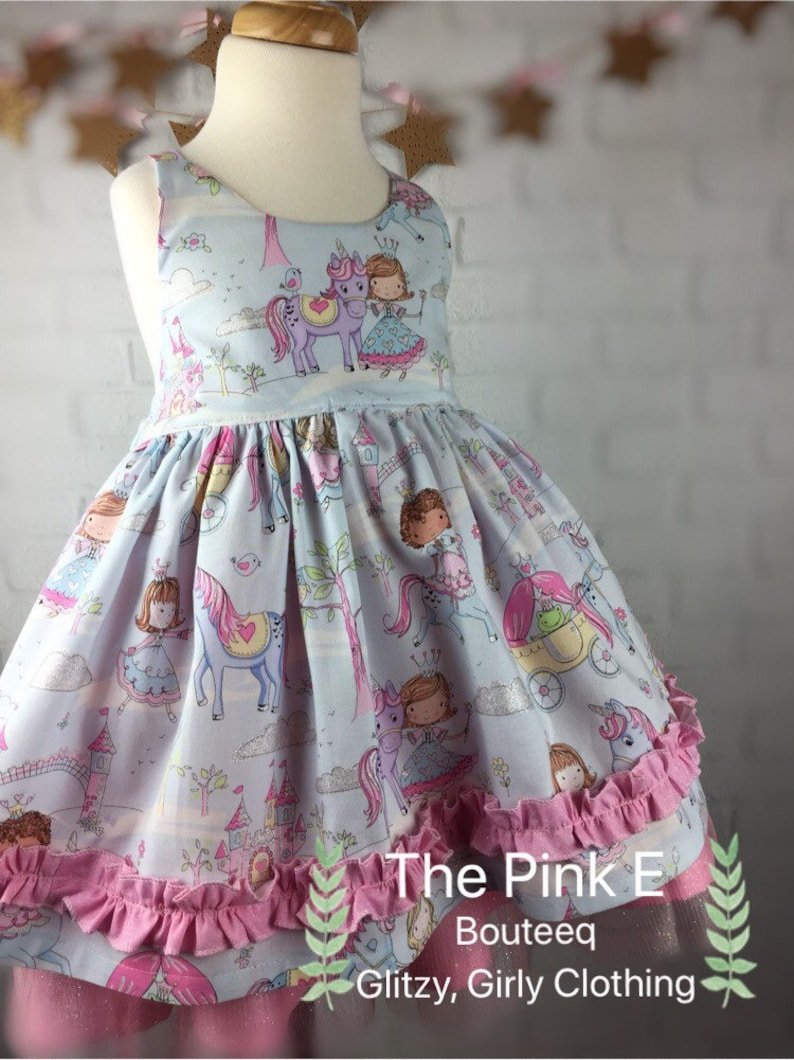 Baby Toddler Girls Glamorous Pink Glimmer Dress with matching Bloomer for your Princess