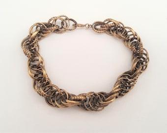 Kalevala Koru Uskelan bronze bracelet F3120A 1980s