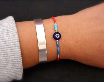 Evil eye bracelet.Good luck bracelet.Friendship bracelet
