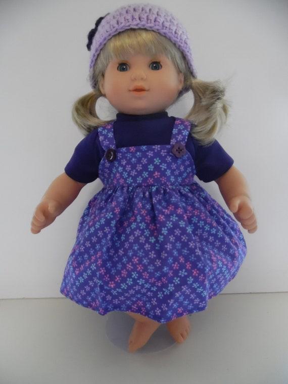 American Girl Doll Bitty Twin Purple Corduroy Jumper Meet Dress AG