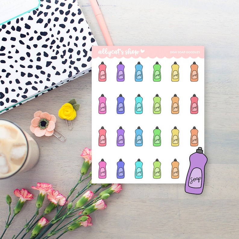 Planner Stickers Dish Soap Icon Stickers