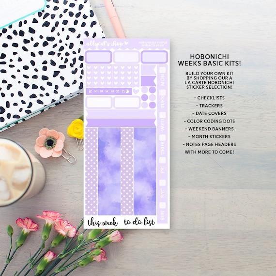 Hobonichi Weeks Purple Weekly Planner Kit Personal Planner Stickers