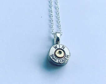 Winchester 9mm Bullet Shell Necklace