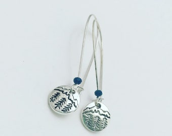 Outdoorsy Mountain and Tree Earrings