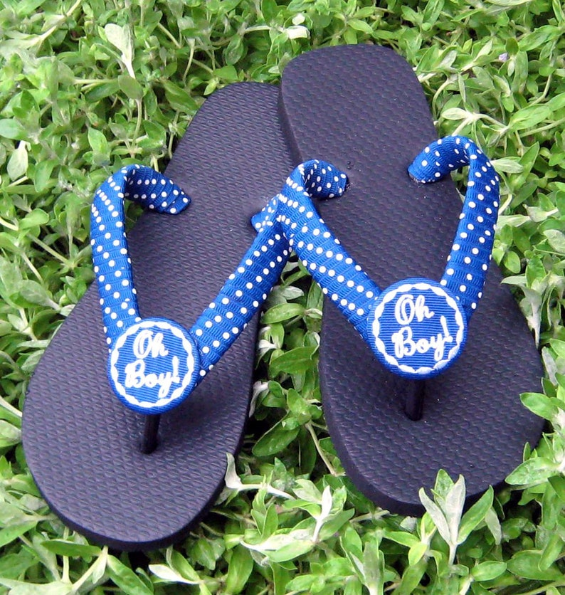 25a1bb3a6588 BABY BOY or GIRL Flip Flops Expectant Moms Washable For