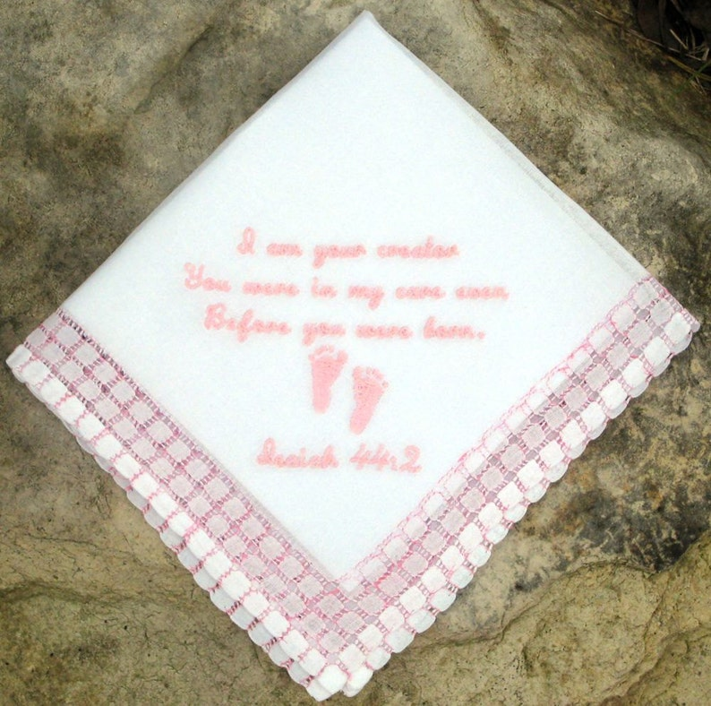 In Memory of Handkerchief BABY LOSS REMEMBRANCE 12x12 For Boy or Girl Infant Loss Tissue Sympathy Miscarriage Gift Box Mosaic Edge