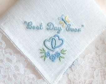 2ND CORNER EMBROIDERY To be Added To Custom Handkerchief Order - Does NOT Include Handkerchief, one to four lines of text, Custom Option