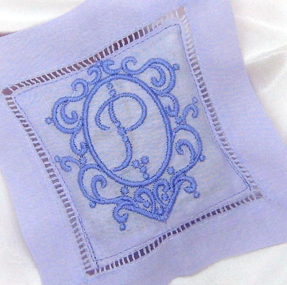 Gift LAVENDER SACHET for the BRIDE White or Lavender Brief Message Small Designs Repels Insects /& Moths Linen Custom Design Monogram