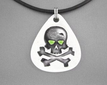 Halloween Necklace, Skull and Crossbones Necklace, Halloween Skull Necklace