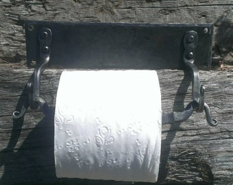 Wrought iron toilet paper roll holder