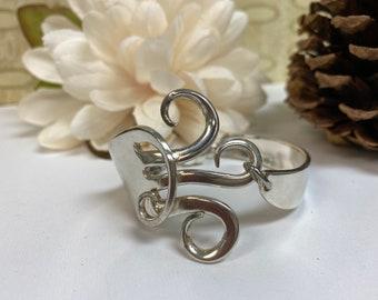 Siverware fork bracelet