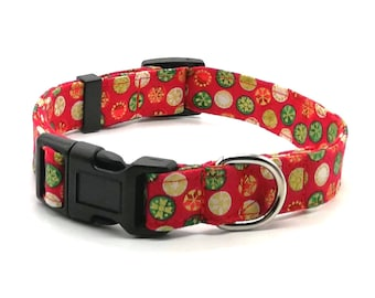 Dog Collar - Red Christmas Bauble