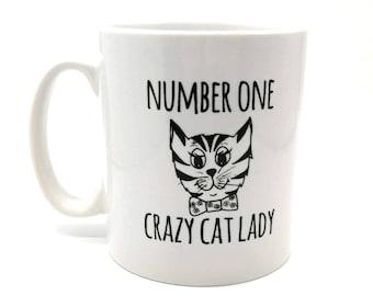 Funny Cat Mug - Cats - Number One Crazy Cat Lady