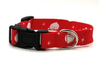 Red Santa Father Christmas Dog Collar