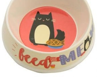 Feed Meow Bamboo Cat Bowl