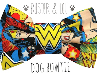 Dog Bow Tie -  Super Hero Wonder Woman