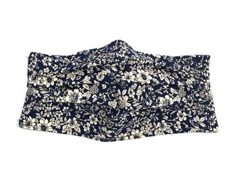 Face Mask Navy Blue Floral