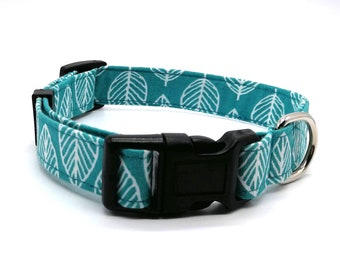 Dog Collar  -  Jade Leaf