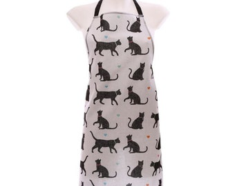 I Love My Cat Poly Cotton Apron