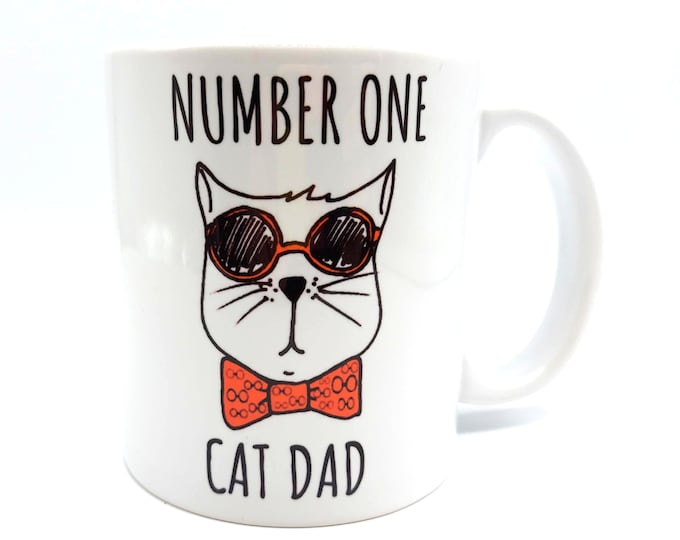 Featured listing image: Number One Cat Dad Mug