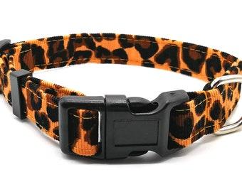 Leopard print corduroy