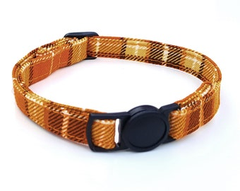 Orange plaid tartan with quick release safety clasp