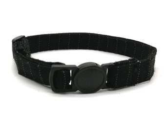 Black Pinstripe breakaway safety collar