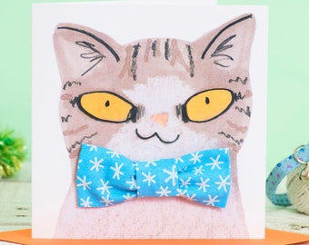 Christmas Cat Gift Set  - Snowflake Bowtie