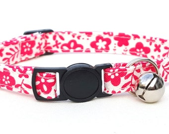 Coral pink and cream floral
