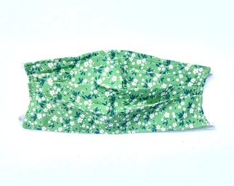 Face Mask Green Floral Mildred