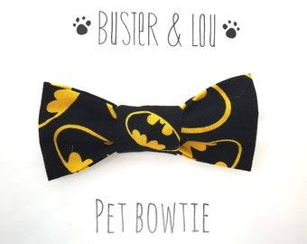 Cat / Small Dog Bow Tie -  Super Hero Batman