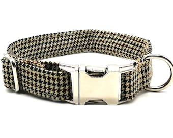 Brown and Beige Houndstooth