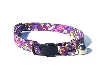 Purple floral fabric design