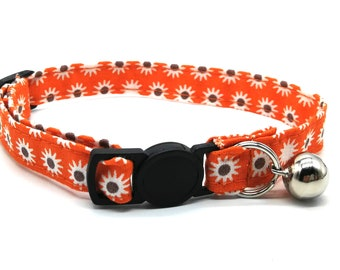 Orange daisy breakaway safety collar
