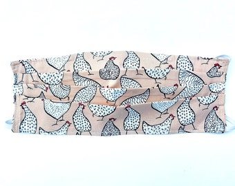 Face Mask Stone Chicken Print