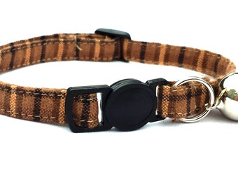Brown plaid with breakaway safety clasp