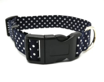 Dark Navy Blue Spotty