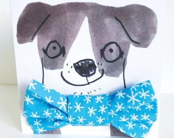Christmas Snowflake Dog Bowtie Gift Set - Hipster Hounds