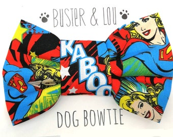 Dog Bow Tie -  Super Hero Supergirl