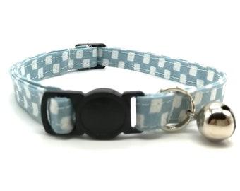 Blue Check breakaway safety collar