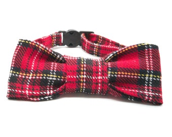 Red tartan - Pet bowtie
