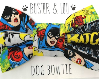 Dog Bow Tie -  Super Hero Batgirl
